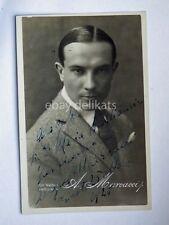 AUTOGRAFO Autograph AUGUSTO MARCACCI attore cinema foto Vettori Bologna 1928