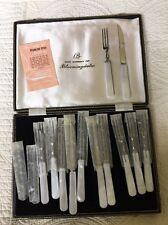 Vintage Made Expressly For Bloomingdales Stainlees Steal 12pc Cutlery Set