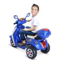 HOMCOM Moto Eléctrica Infantil Correpasillos Coche Triciclo para Niños 3-8 años