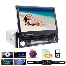 "Single 1Din Car DVD Player 7""In-Dash Touch Screen Radio GPS NavBT+Backup Camera"