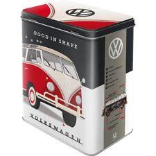 Vintage Style Retro Lidded Storage Tin - VW Split Screen Camper Good In Shape
