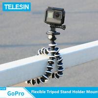 TELESIN Flexible Tripod Stand Holder Mount for GoPro Hero 8 7 6 5 Action Camera