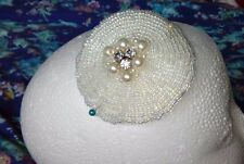 Prom/Wedding Hand beaded hair accessories with clip.