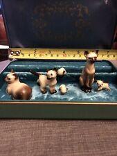 Lot Of 6 Tiny Vintage Siamese Cat Figurines