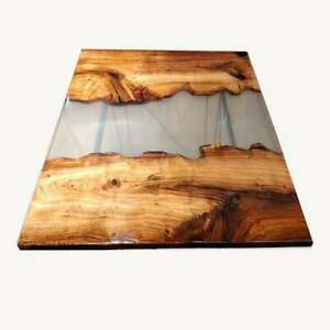 """48"""" x 30"""" Epoxy Resin Center / Coffee Table Top resin Wooden Home Decor"""