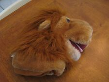 "animal planet plush plush hand puppet 10"" rust lion"
