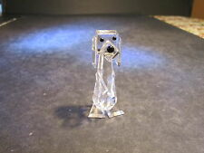 "Swarovski Crystal 2.5"" Tall Sitting Dog Figurine"