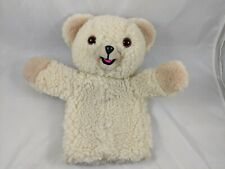 "Snuggle Bear Hand Puppet Plush 11"" Lever Bros 1986 Stuffed Animal"