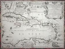 VINCENZO CORONELLI Archipelague du Mexique Cuba Mexico Florida MAP 1st Ed 1688