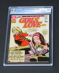 Girls Love Story #158 PGX 9.0 DC Comics 1971 Girls' Love & Romance