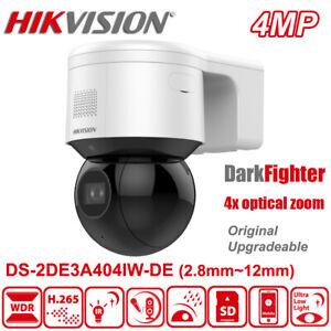 Hikvision DS-2DE3A404IW-DE 4MP DarkFighter 4x Zoom PTZ Camera Mic Speaker Alarm
