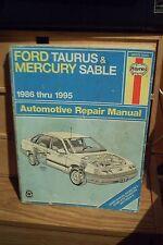 FORD TAURUS & MERCURY SABLE AUTOMOTIVE REPAIR MANUAL 1986 THUR 1995