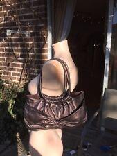 EUC A/X Armani Exchange super soft Bronze Leather w/bow Medium Handbag