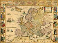 MAP ANTIQUE BLAEU 1664 EUROPE OLD HISTORIC LARGE REPLICA POSTER PRINT PAM0564