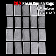 20Pack 100u 2.5'' x 4.5'' Rosin Press Filter Bags Nylon Mesh  Screen Tennis