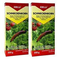 DELU Schneckenkorn 2 x 300 g - Nacktschnecken Bekämpfung Schnecken Schneckengift