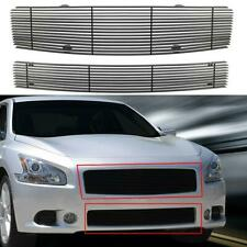 Black Horizontal Billet Grille Grill Combo Insert For Nissan Maxima 2009-2014