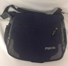 JanSport Laptop Messenger Shoulder Bag Canvas School Bag Navy Blue Padded Strap