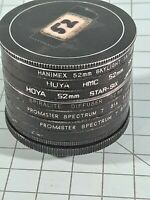 Lot Of 7 52mm Camera Lens Filters. Hoya, Promaster, Hanimex, Spiralite. B14
