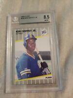 1989 Fleer Ken Griffey Jr. Seattle Mariners #548 Baseball Card Beckett 8.5