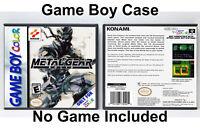 Metal Gear Solid - Game Boy GB Custom Case *NO GAME*