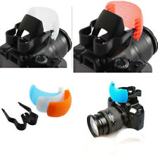 3 color Pop Up Flash Bounce Diffuser Cover kit F Canon Nikon Pentax Olympus Sony