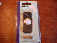 Broan Push Button Black With Brass Trim  Door Bell Chime Buzzer New B875L