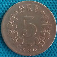 Moneda Monedas Dinamarca 5 Ore 1875 Ref:0271