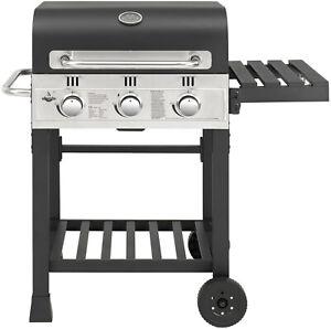 "Gasgrill ""ONTARIO GAS "" von El Fuego® 3 Brenner Grill Smoker BBQ Grillwagen"