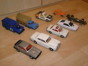 Collection Job Lot of 9 Vintage Corgi Metal DieCast cars and vehicles mostly1/36