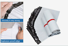 """50 X White Plastic Mailing Post Poly Postage Postal Packaging Bags 10"""" x 14"""""""