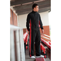 Finden And Hales Contrast Track Top Elasticated Cuffs Pockets Pants Tracksuit