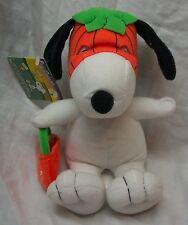 Peanuts Snoopy In Halloween Pumpkin Mask Plush Stuffed Animal Toy New