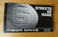 Streets Of Rage - Mega Games 6 Vol 3 - Manual Only - SEGA Mega Drive