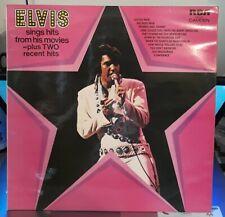 Elvis Presley Sings Hits From His Movies LP UK ORIG 1972 RCA Camden  - EX+ / NM+