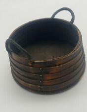 Vintage Wicker Dark Brown Nicely Crafted Handmade Farm Basket