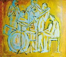 Gerhard Elsner 1930-2017: Jazzband Ölgemälde 100 x 120 cm, Ausstellungswerk