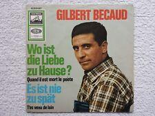 "Vinyl-7""-Cover # only Cover # Gilbert Bécaud # Wo ist die Liebe zu Hause? # 1966"