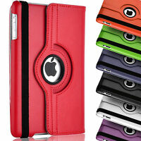 PU Leather Rotate Smart Stand Case Folio Cover For Apple iPad 4 3 2 Air Pro Mini