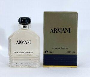 ARMANI EAU POUR HOMME 10 ML. 0.33 FL.OZ. MINI PERFUME NEW IN BOX