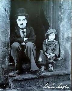 CHARLIE CHAPLIN - THE KID Original signed limited edition  PYRAMID POSTER