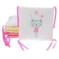 6PCs Baby Crib Bumper Cotton Infant Bed Cot Protector Cat