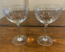 Chalice Glasses w/Etched Snowflakes - Set of 2