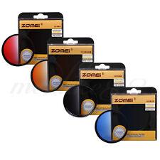 Zomei 77mm Round Gradual Neutral Density Lens Filter Kit - Red Blue Orange Grey