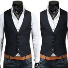 Men Business Jacket Suit Slim Fit Vest Top Casual Business Formal Vest Waistcoat