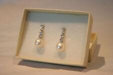 Wedding / Bridal Earrings, Freshwater Pearl & Diamante GIRLS LOVE PEARLS ROSELLA
