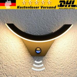 Neu LED Außenleuchte Wand-Leuchte Hausbeleuchtung mit Bewegungsmelder Anthrazit