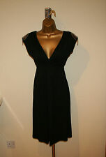 BNWT Designer REDOUTE Sexy Fitted Black Dress Sz UK 4-6