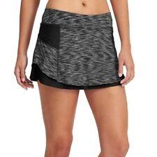 Athleta Spacedye Bustle Skirt Skort Black Tennis Running Fitness M Medium