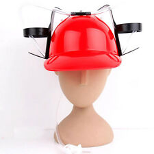 Beverage Helmet Drink Beer Cola Drinking Hat Lazy Lounged Straw Cap Party Game
